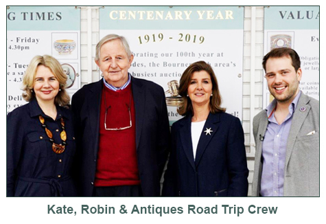 Kate Howe Limited : Kate and the Team from Antiques Road Trip!
