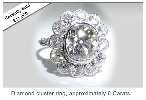 Kate Howe Limited : Diamond cluster ring, 6 carats